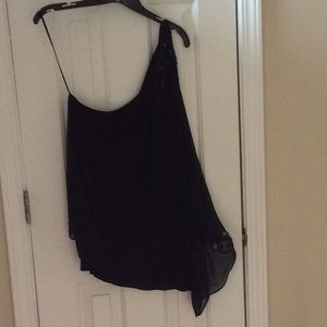 Cynthia Rowley one shoulder top